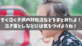 すぐ泣く子供の対処法などをまとめたよ!泣き落としなどには気をつけようね!